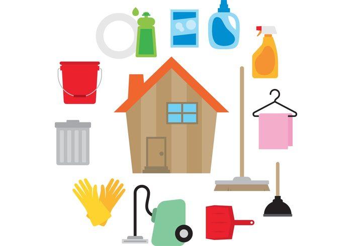 clean-house-vector